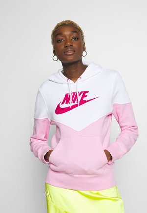Hoodie - pink rise/white/fire pink