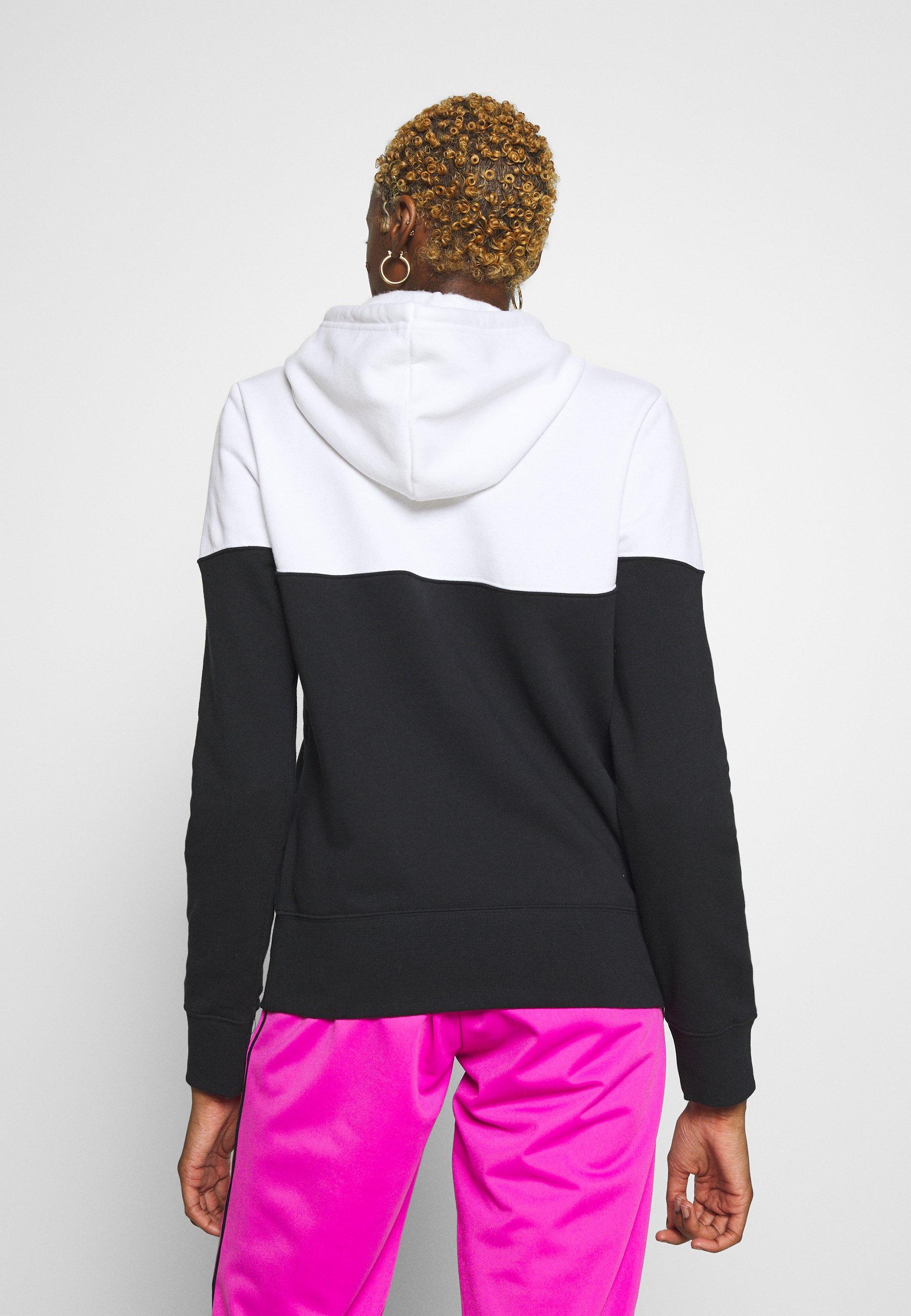 Nike Sportswear HOODIE - Hoodie - black/white