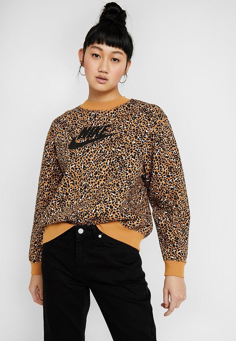 Nike Sportswear - CREW - Sweatshirt - desert ochre/black