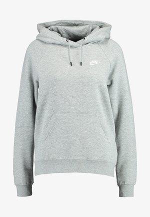 Sweat à capuche - dark grey heather/white