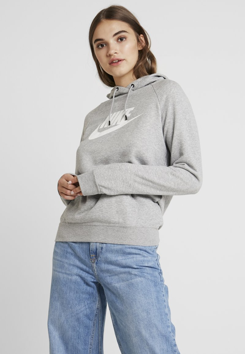 Nike Sportswear - HOODIE - Hoodie - dark grey heather/white