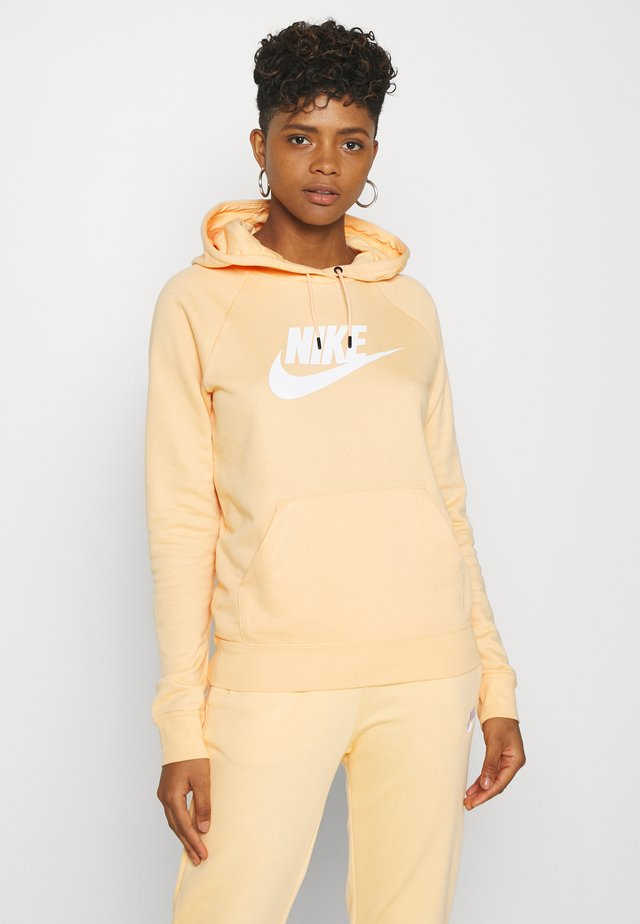 HOODIE - Bluza z kapturem - orange chalk/white