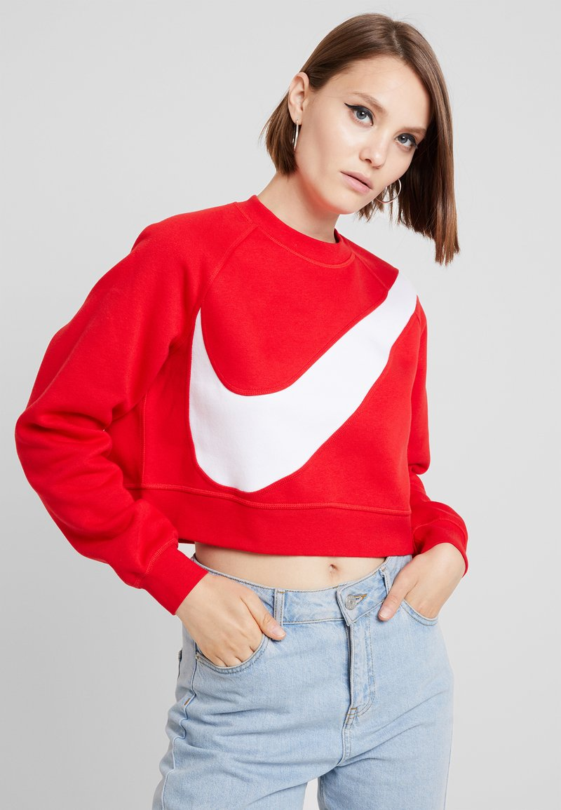 Nike Sportswear - CREW - Sweatshirt - university red/white
