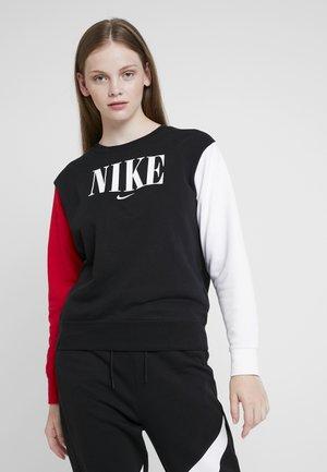 CREW FT HBR - Sweatshirt - black/university red/white