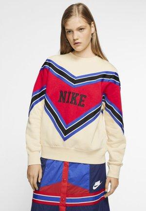 CREW - Sweatshirt - muslin/university red/black