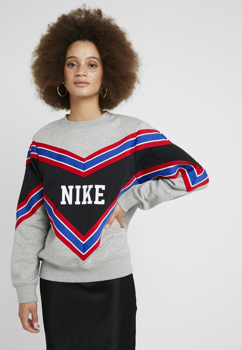 Nike Sportswear - CREW - Sweatshirt -  grey heather/black/white