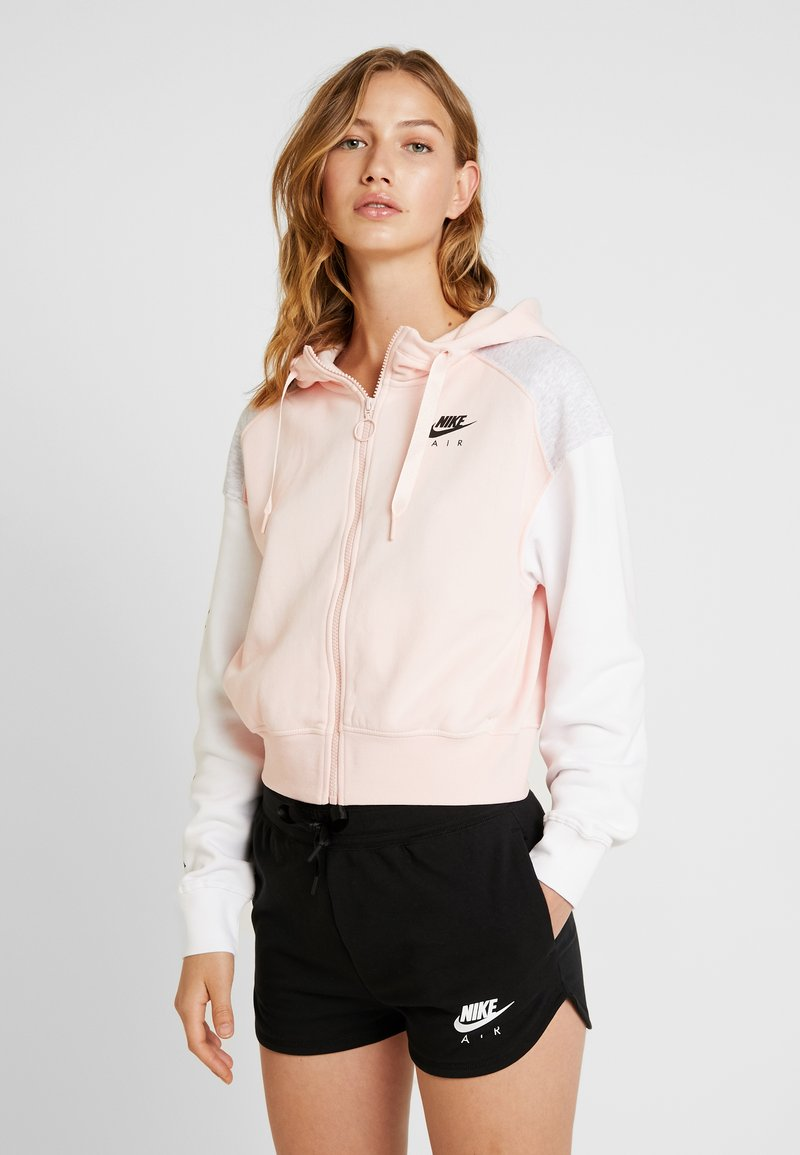 Nike Sportswear - AIR HOODIE - Zip-up hoodie - echo pink/birch heather/white