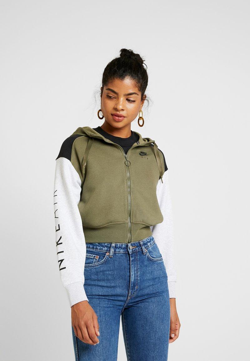 Nike Sportswear - Zip-up hoodie - medium olive/black/birch heather