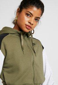 Nike Sportswear - veste en sweat zippée - medium olive/black/birch heather - 4