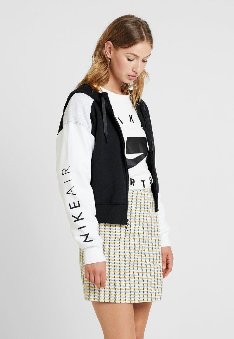 Nike Sportswear - veste en sweat zippée - black/birch heather/white