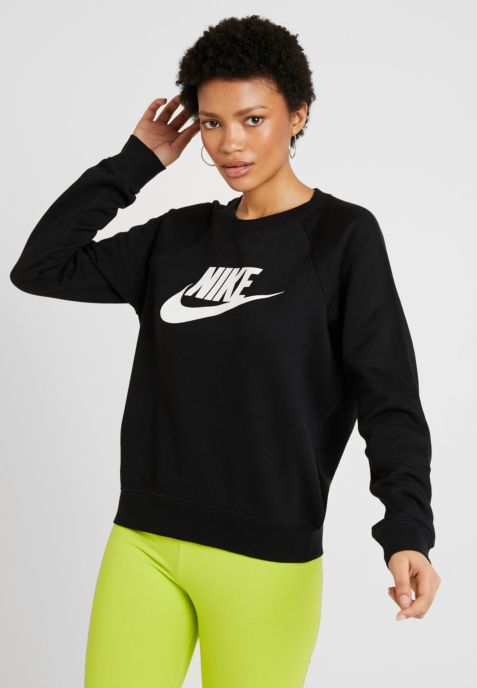 CrewSweatshirt Nike Nike CrewSweatshirt Black Black Sportswear white Sportswear white 3S5ARj4cLq