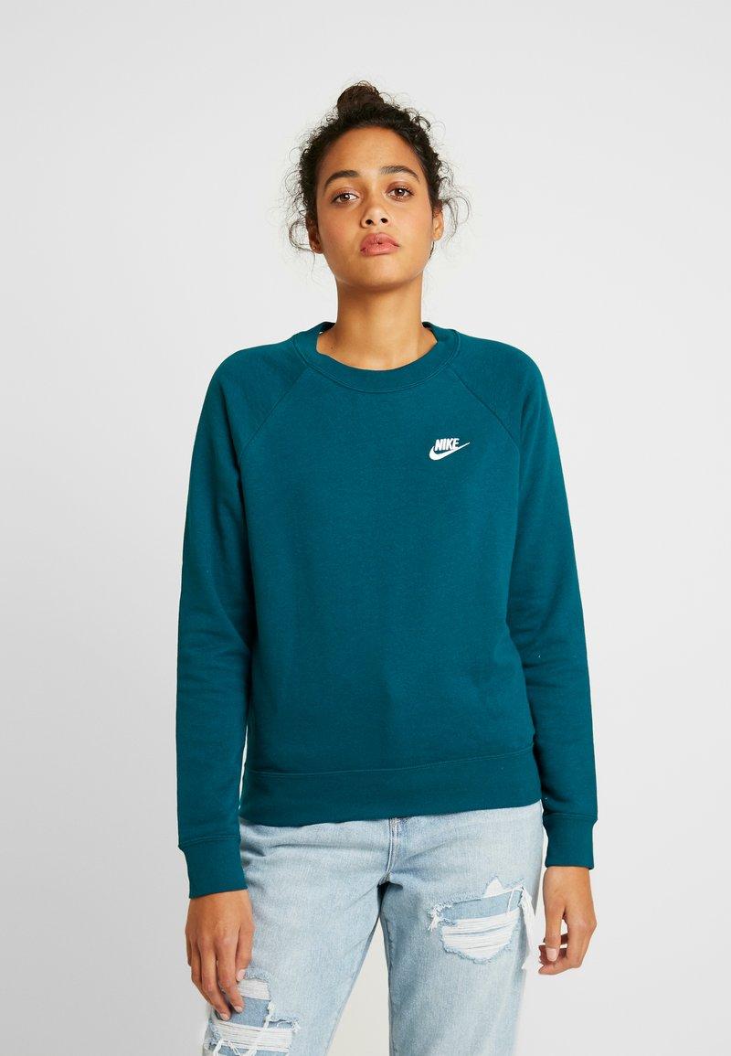 Nike Sportswear - CREW - Sweatshirt - midnight turq/white
