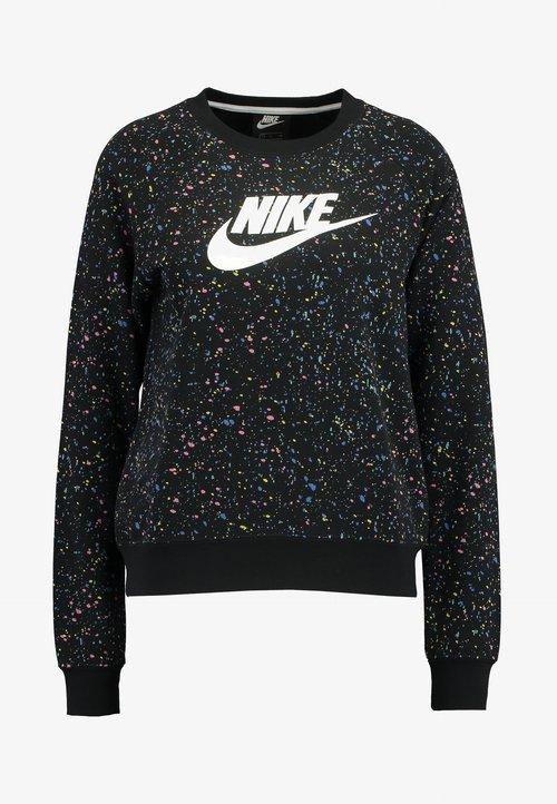 Nike Sportswear CREW - Bluza - black/white Odzież Damska NNPI-KZ8 85% ZNIŻKI