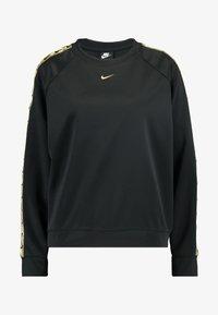 Nike Sportswear - CREW LOGO TAPE - Sweatshirt - black/metallic gold - 3