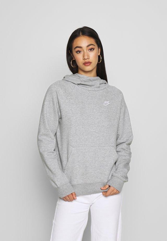 Jersey con capucha - grey heather/white