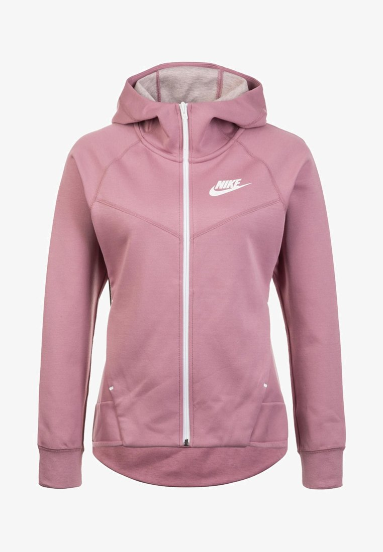 Nike Sportswear - Zip-up hoodie - plum dust / white