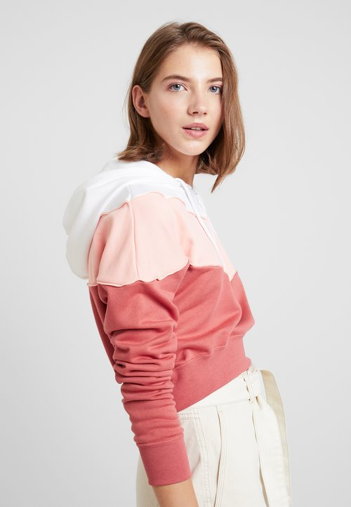 nowy Nike Sportswear Bluza z kapturem - light redwood/bleached coral/white Odzież Damska TFDP-JJ6