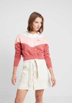 Bluza z kapturem - light redwood/bleached coral/white