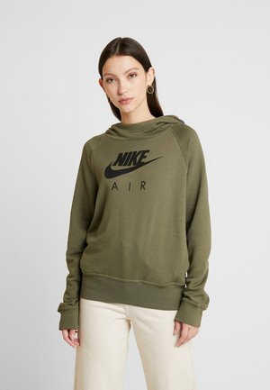 AIR HOODIE - Hoodie - medium olive/black