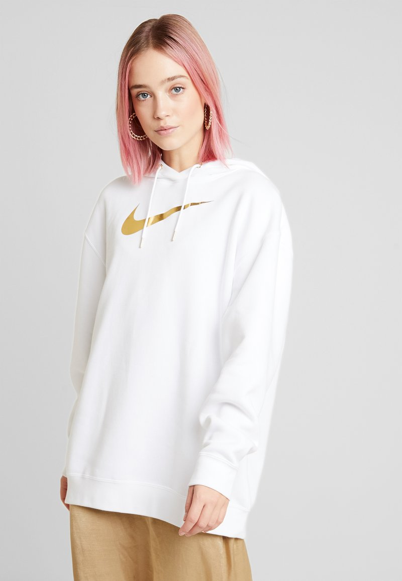 Nike Sportswear - Felpa con cappuccio - white/gold