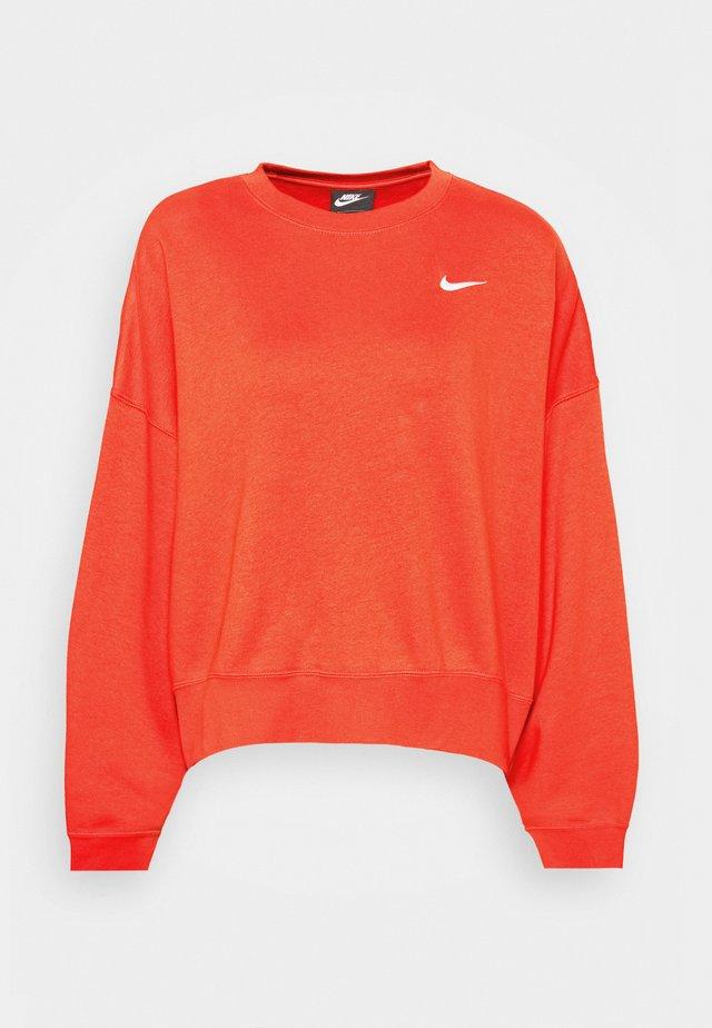 CREW TREND - Sweatshirt - mantra orange/white