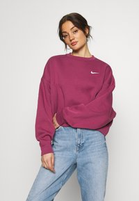 Nike Sportswear - CREW TREND - Sweater - mulberry rose/white - 0