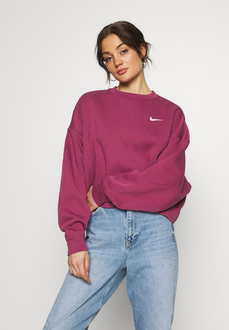 Nike Sportswear - CREW TREND - Sweater - mulberry rose/white
