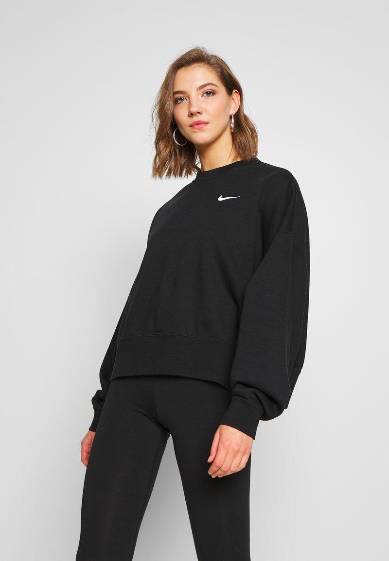 Nike Sportswear - CREW TREND - Sweatshirt - black/white