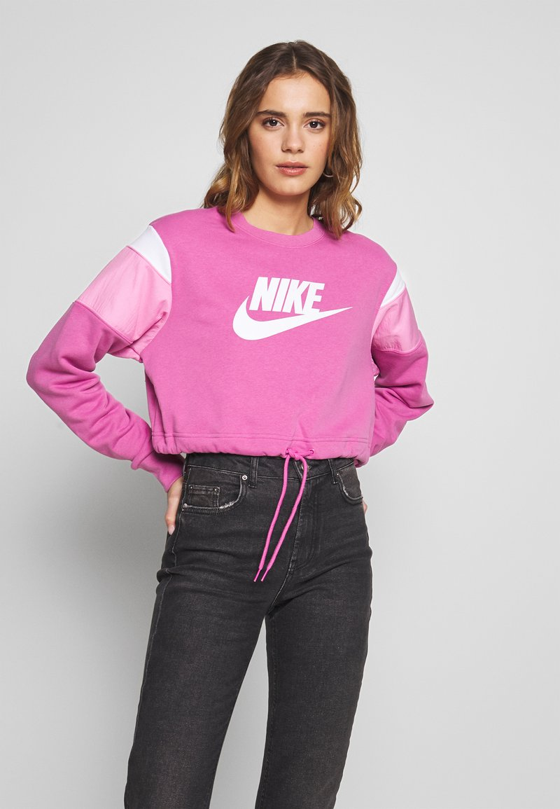 Nike Sportswear - CREW - Felpa - cosmic fuchsia/magic flamingo/white