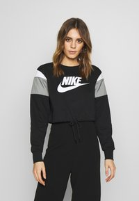 Nike Sportswear - CREW - Mikina - black/smoke grey/white - 0