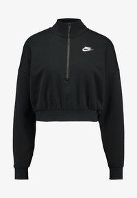 Nike Sportswear - CROP - Sweatshirt - black/white - 3