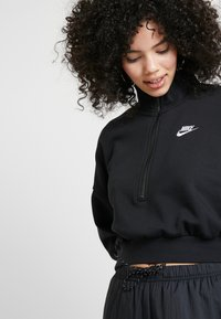 Nike Sportswear - CROP - Sweatshirt - black/white - 4