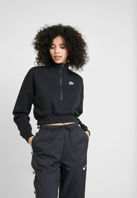Nike Sportswear - CROP - Sweater - black/white - 0