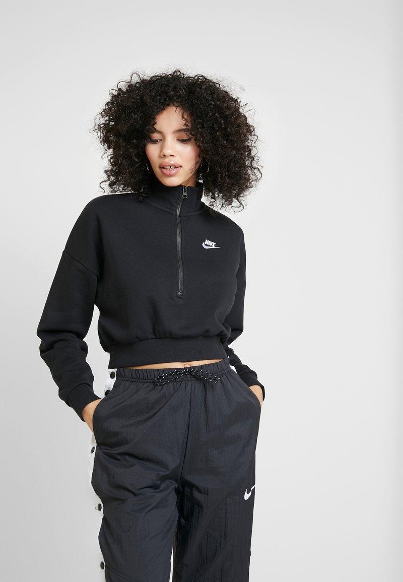 Nike Sportswear - CROP - Sweatshirt - black/white