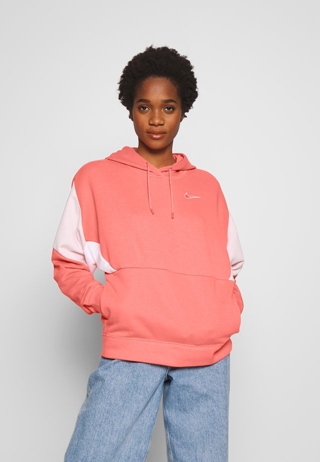 Hoodie - barely rose/white