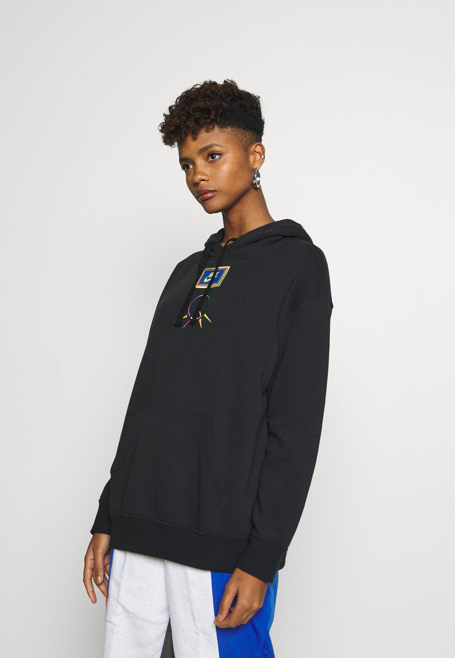 Nike Sportswear PEACE PACK HOODIE - Bluza z kapturem - black/green spark