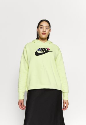 PLUS SIZE ICON CLASH PATCHES FLEECE HOODIE - Jersey con capucha - limelight