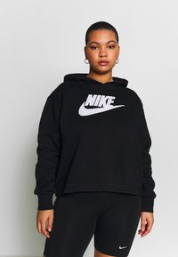 Nike Sportswear - PLUS SIZE ICON CLASH PATCHES FLEECE HOODIE - Hoodie - black - 0