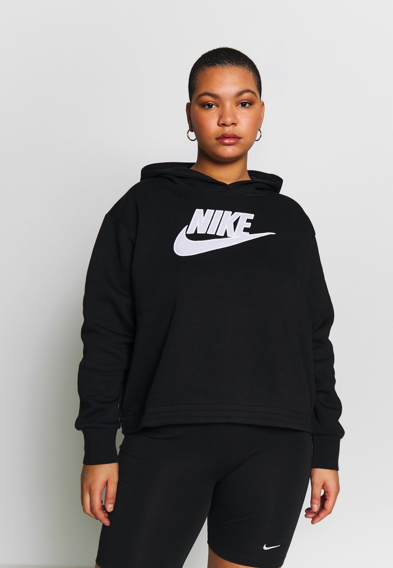 Nike Sportswear - PLUS SIZE ICON CLASH PATCHES FLEECE HOODIE - Hoodie - black
