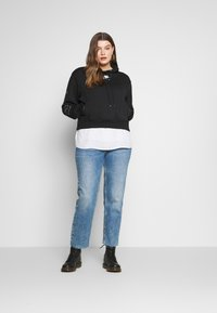Nike Sportswear - AIR HOODIE PLUS - Hoodie - black/ice silver - 1
