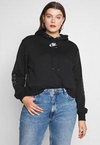 Nike Sportswear - AIR HOODIE PLUS - Hoodie - black/ice silver - 0