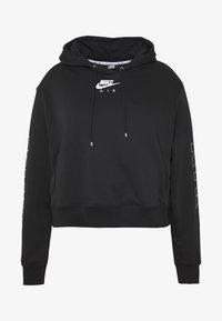 Nike Sportswear - AIR HOODIE PLUS - Hoodie - black/ice silver - 4
