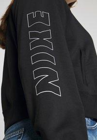 Nike Sportswear - AIR HOODIE PLUS - Hoodie - black/ice silver - 5
