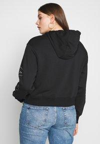 Nike Sportswear - AIR HOODIE PLUS - Hoodie - black/ice silver - 2