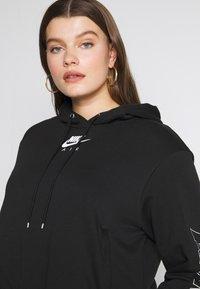 Nike Sportswear - AIR HOODIE PLUS - Hoodie - black/ice silver - 3