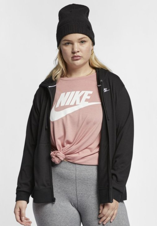 Nike Sportswear Sweatjacke - black/white