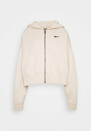 Zip-up hoodie - oatmeal/black