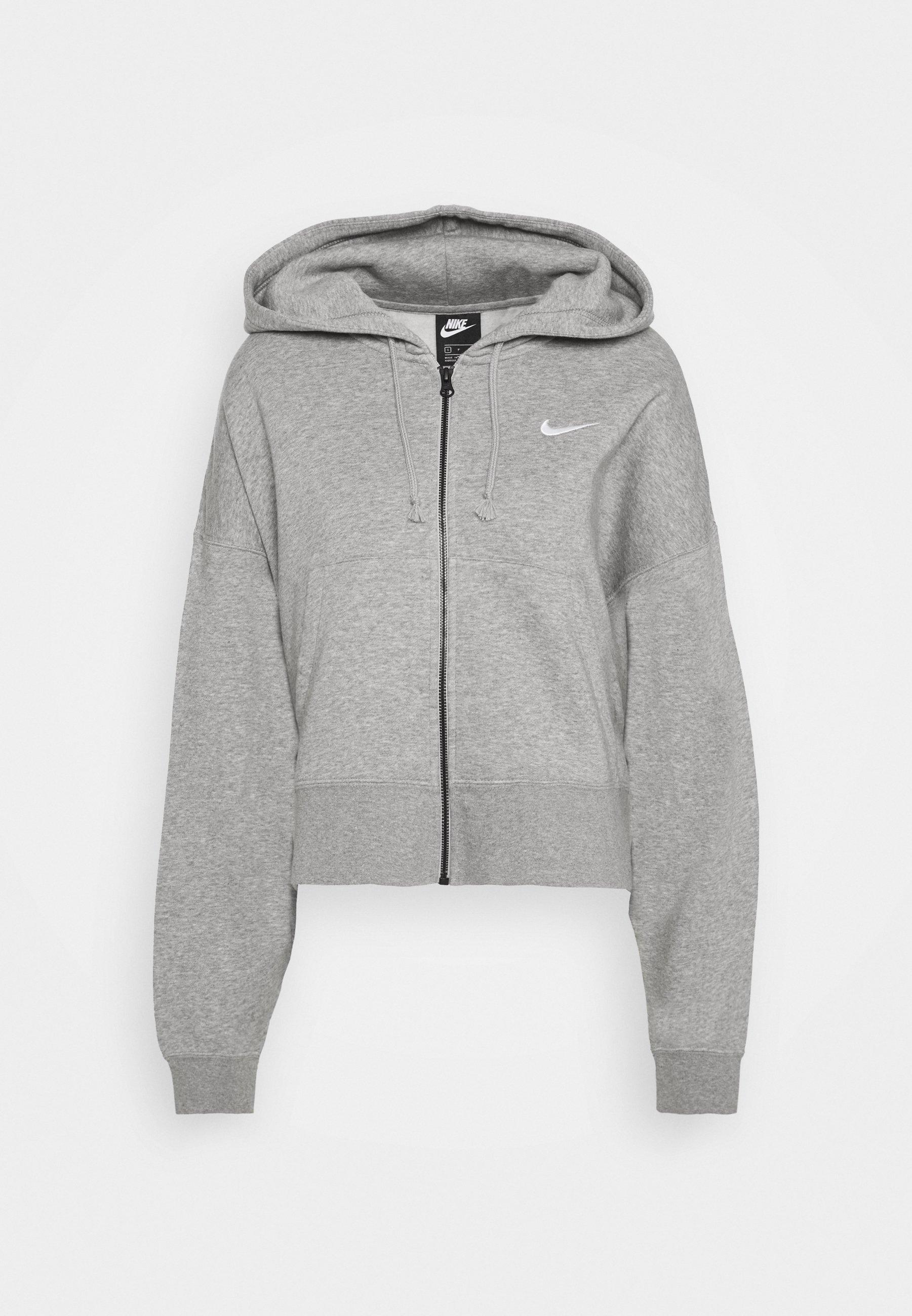 veste en sweat zippée dark grey heatherwhite
