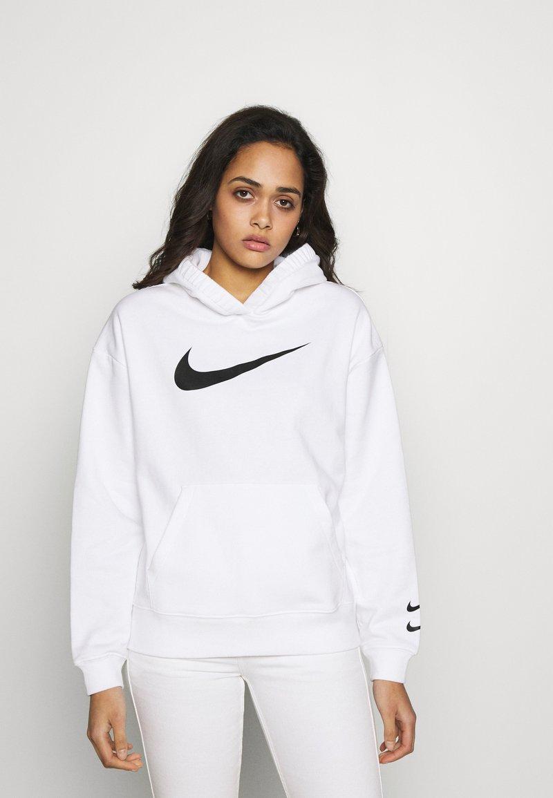 Nike Sportswear - HOODIE  - Bluza z kapturem - white/black