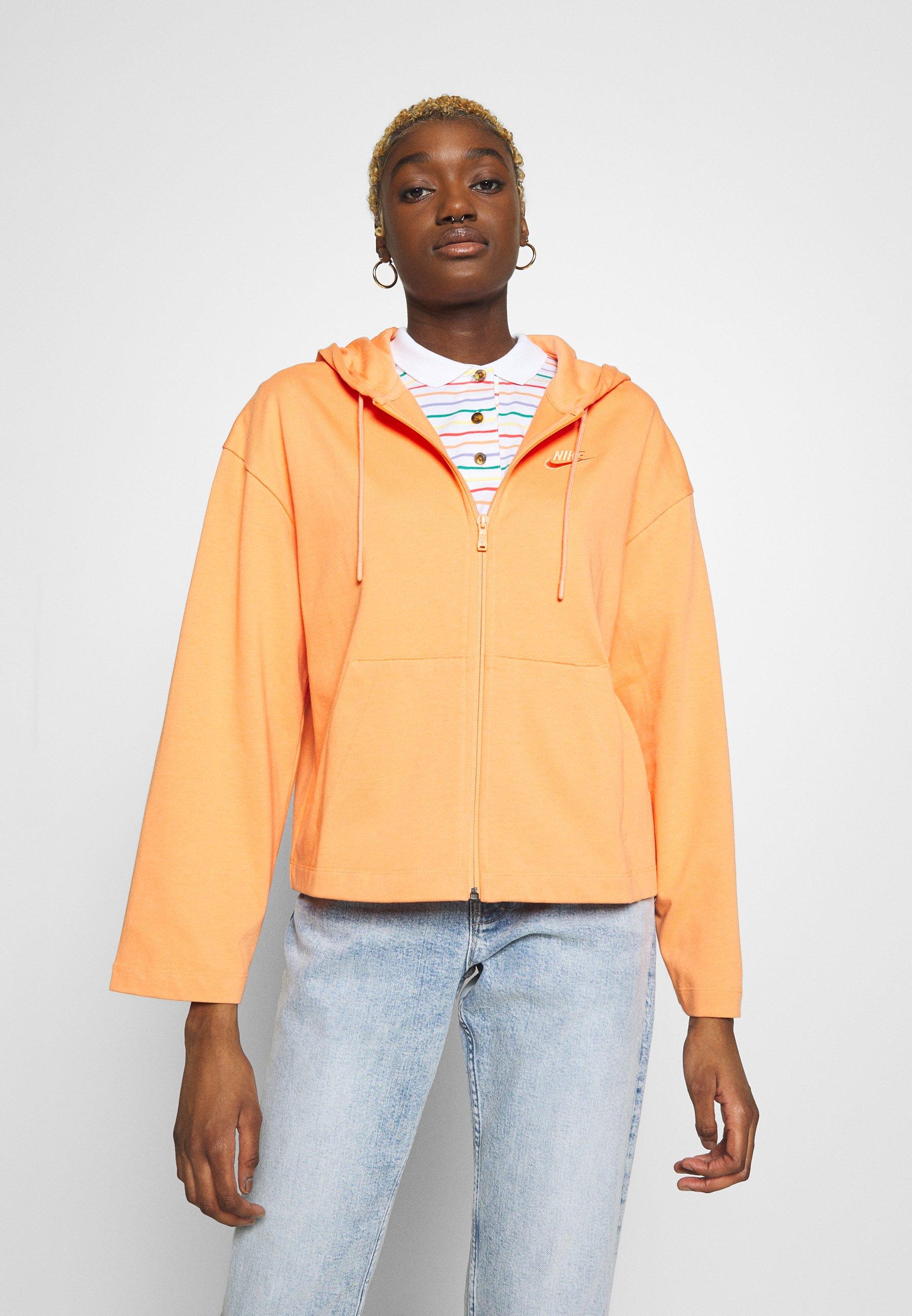 Nike Sportswear HOODIE veste en sweat zippée orange
